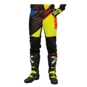 Jopa Crossbroek MX Strife Neon Yellow/Black/Red