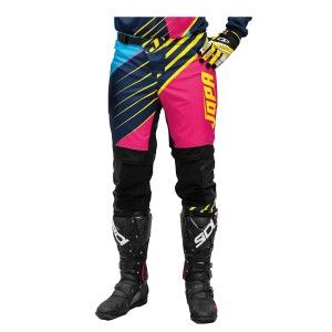 Jopa Kinder Crossbroek Strife Pink/Navy/Neon Yellow