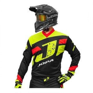 Jopa Kinder Crossshirt Capital Neon Yellow/Black