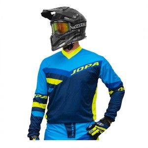 Jopa Crossshirt Devision Blue/Neon Yellow