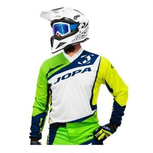Jopa Crossshirt Divergent White/Green/Neon Yellow