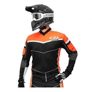 Jopa Crossshirt Iron Black/Orange