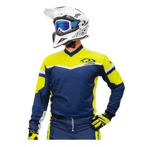Jopa Crossshirt Iron Navy/Neon Yellow