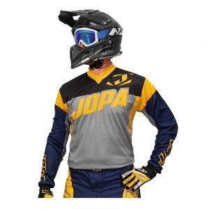 Jopa Crossshirt Looper Grey/Navy/Yellow