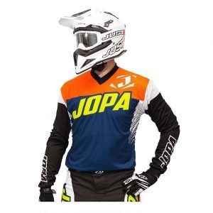 Jopa Crossshirt Looper Navy/Neon Orange/White