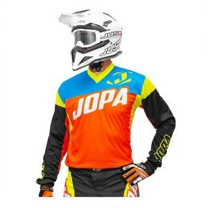 Jopa Crossshirt Looper Orange/Neon Yellow/Blue