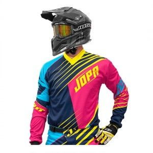 Jopa Crossshirt Strife Pink/Navy/Yellow