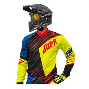 Jopa Kinder Crossshirt Strife Neon Yellow/Black/Red