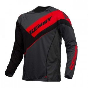 Kenny Shirt Titanium Black/Grey/Red-L