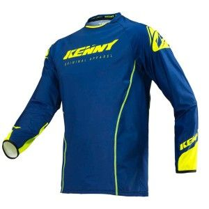 Kenny Crossshirt Titanium Navy/Neon Yellow