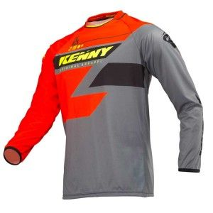 Kenny Crossshirt Track Orange/Grey/Neon Yellow