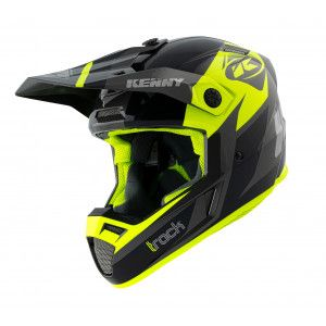 Kenny Crosshelm Track Graphic Black/Neon Yellow