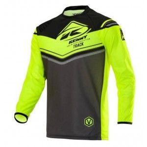 Kenny Track Victory Crossshirt Charcoal/Neon Yellow