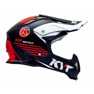 Kyt Crosshelm Strike Eagle K-MX Black/Red-S