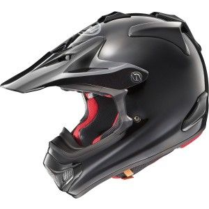 Arai Crosshelm MX-V Plain Black (Glanzend)