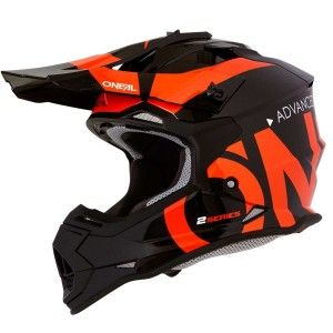 O'Neal Kinder Crosshelm 2 Series Slick Black/Orange