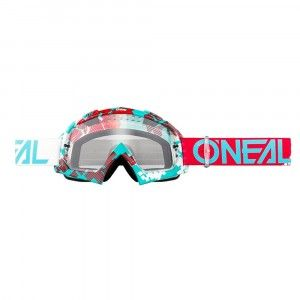 O'Neal Crossbril B10 Pixel Ruby Red/Teal/Clear