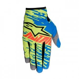 Alpinestars Handschoenen Racer Braap Blue/Lime/Green/Red-XXL