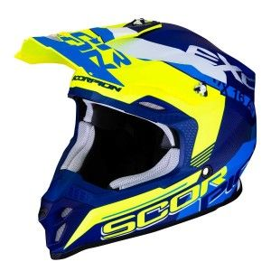 Scorpion Crosshelm VX-16 Arhus Matt Blue/Neon Yellow