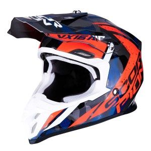 Scorpion Crosshelm VX-16 Waka Red/Blue