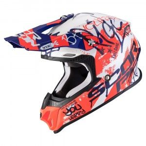 Scorpion VX-16 Air Oratio Crosshelm Blue/Red