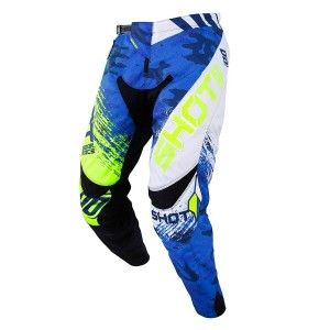 Shot Crossbroek Contact Counter Blue/Neon Yellow