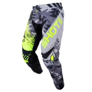 Shot Crossbroek Contact Counter Grey/Neon Yellow