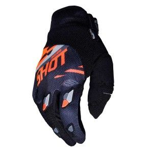Shot Crosshandschoenen Contact Score Black/Neon Orange