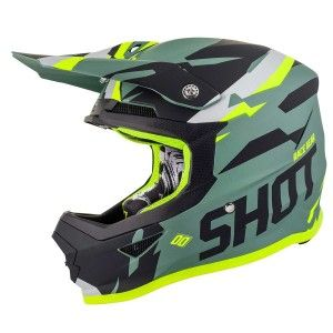 Shot Crosshelm Furious Score Kaki Neon Yellow Matt