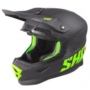 Shot Furious Crosshelm Brush Raw Black/Neon Green