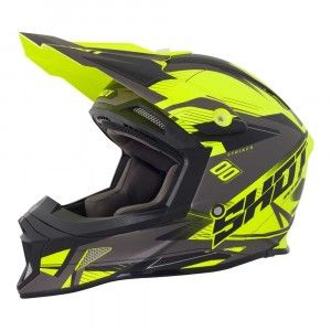 Shot Crosshelm Striker Side Neon Yellow