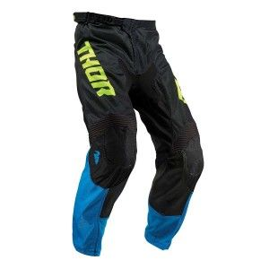 Thor Kinder Broek Pulse Air Acid Electric Blue/Lime