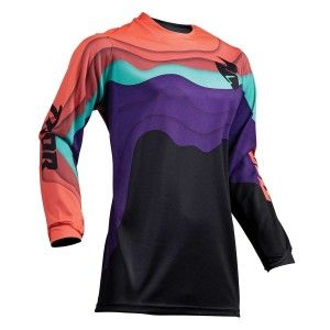Thor Dames Shirt Pulse Depths Black/Coral