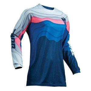 Thor Dames Shirt Pulse Depths Ocean/Pink