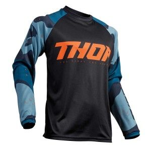 Thor Crossshirt Sector Camo Blue