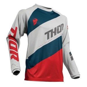 Thor Crossshirt Sector Shear Light Gray/Red