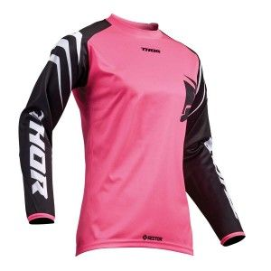 Thor Dames Crossshirt Sector Black/Pink