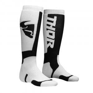 Thor Kinder Crosssokken MX White/Black
