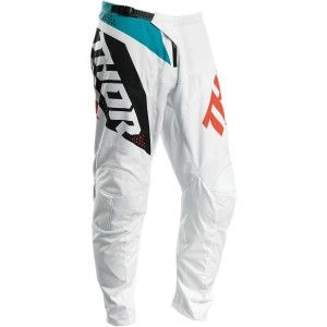 Thor Kinder Crossbroek Sector Blade White/Aqua