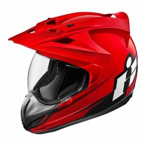Icon Integraalhelm/Endurohelm Variant Double Stack Red