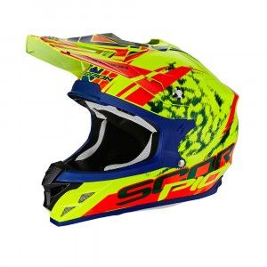 Scorpion Crosshelm VX-15 Evo Air Kistune Neon Yellow/Red