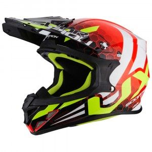Scorpion Crosshelm VX-21 Air Xagon Neon Red/Black
